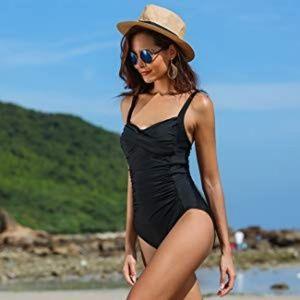 [Ekouaer] Navy One Piece Swimsuit